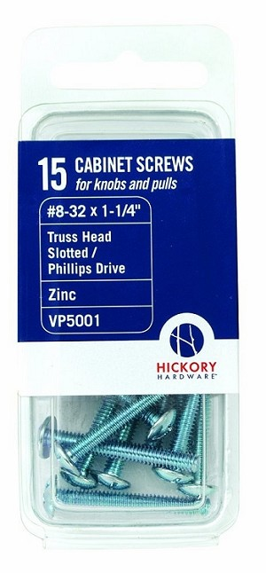 "VP5001 #8-32 machine screws 1-1/4"" long - 15 pack"